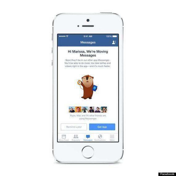 Facebook va désactiver la messagerie sur son application iOS et