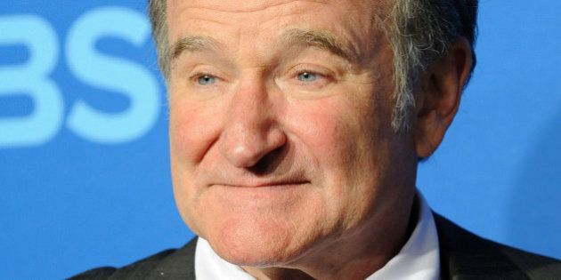 NEW YORK, NY - MAY 15: Actor Robin Williams attends CBS 2013 Upfront Presentation at The Tent at Lincoln...