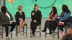 Enceinte, Alicia Keys montre son ventre à l'émission « The View »