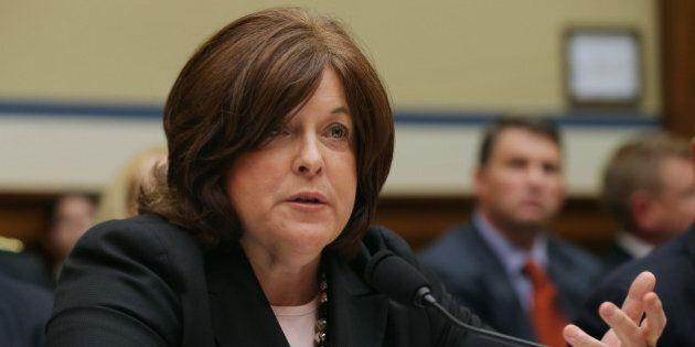 WASHINGTON, DC - SEPTEMBER 30: Secret Service Director Julia Pierson testifies to the House Oversight...