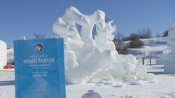 Carnaval de Québec : une sculpture sur les régimes de retraite remporte les