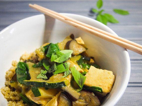 Recette santé: cari vert au lait de coco et