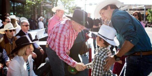 Stephen Harper au Stampede de Calgary: déjeuner en matinée et BBQ en