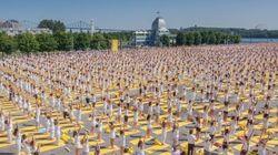 6000 fans de yoga au Lolë White Tour de Montréal