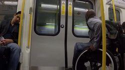 «Race The Tube» en fauteuil roulant: un handicapé relève le défi pour dénoncer un problème