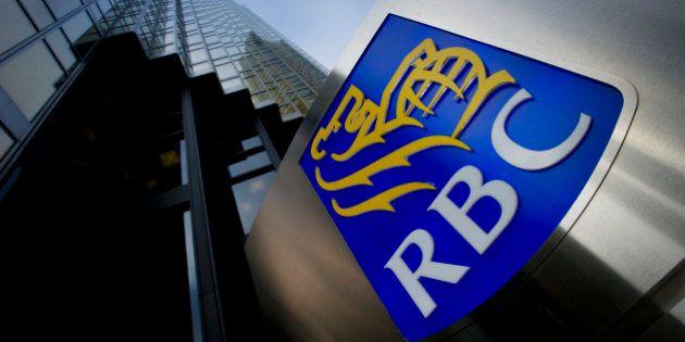 Royal Bank of Canada (RBC) signage is displayed at the Royal Bank Plaza in Toronto, Ontario, Canada,...