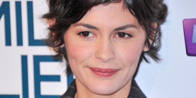 PARIS, FRANCE - DECEMBER 09: Audrey Tautou attends the 'La Famille Belier' Paris Premiere at Le Grand...