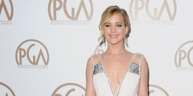 LOS ANGELES, CA - JANUARY 24: Actress Jennifer Lawrence arrives at the 26th Annual PGA Awards at the...