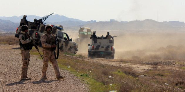 DIYALA, IRAQ - JANUARY 22: Iraqi security forces are seen during a military operation launched by the...