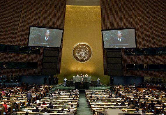 Discours de Stephen Harper à l'ONU: le web se moque des (nombreux) sièges vides
