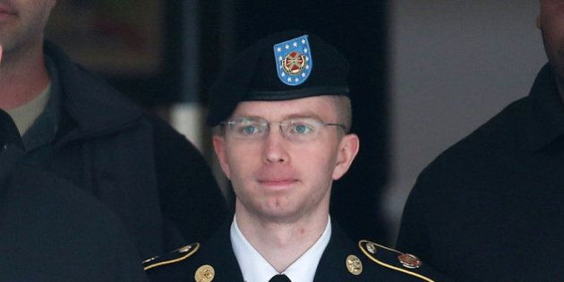 FORT MEADE, MD - AUGUST 20: US Army Private First Class Bradley Manning is escorted out of a military...