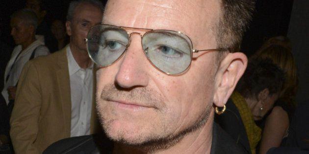 NEW YORK, NY - SEPTEMBER 07: Bono attends the Edun fashion show during Mercedes-Benz Fashion Week Spring...