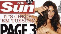 The Sun renonce aux seins nus sur sa célèbre page 3 (enfin