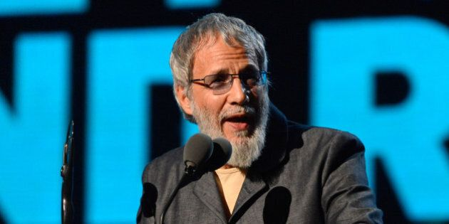 NEW YORK, NY - APRIL 10:  Cat Stevens speaks onstage at the 29th Annual Rock And Roll Hall Of Fame Induction Ceremony at Barclays Center of Brooklyn on April 10, 2014 in New York City.  (Photo by Kevin Mazur/WireImage)