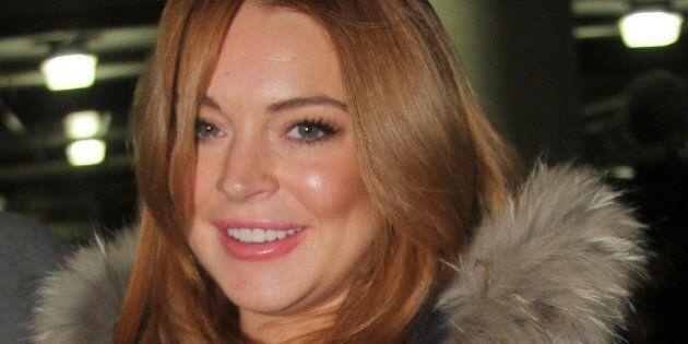 PARK CITY, UT - JANUARY 20: Lindsay Lohan is seen at Sundance Festival on January 20, 2014 in Park City, Utah. (Photo by Alo Ceballos/GC Images)