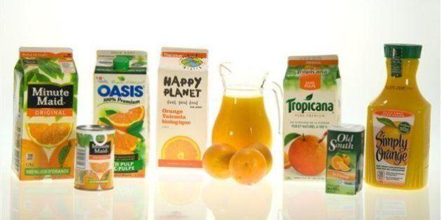 Du jus d'orange naturel... pas si