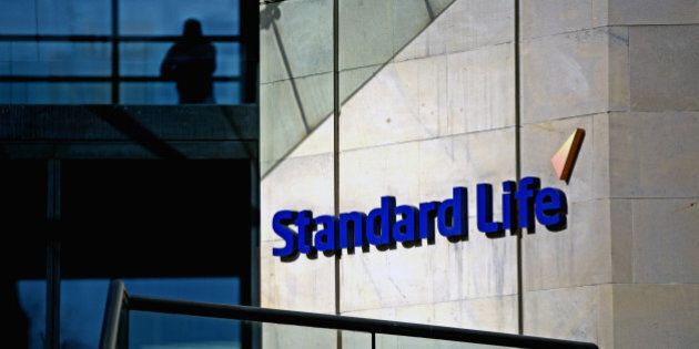 EDINBURGH, SCOTLAND - MARCH 04: The Standard Life House logo is displayed on March 4, 2014 in Edinburgh,...
