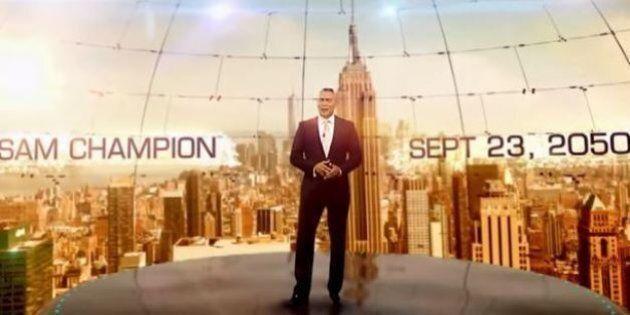Météo en 2050: des chaînes de télévision du monde entier simulent un bulletin du futur