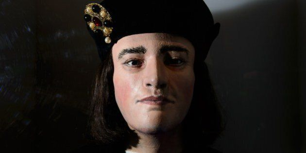 A forensic reconstruction of the head of King Richard III is displayed in the new visitor's centre on...
