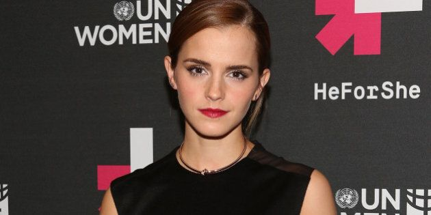 NEW YORK, NY - SEPTEMBER 20: Actress Emma Watson attends UN Women's 'HeForShe' VIP After Party at The...