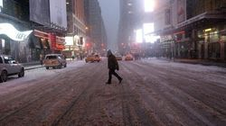 Tempête de neige: New York vide et silencieuse