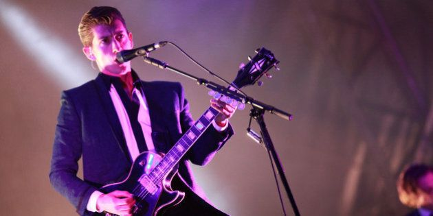 DUBLIN, IRELAND - SEPTEMBER 01: Alex Turner of Arctic Monkeys performs at Day 3 of Electric Picnic at...