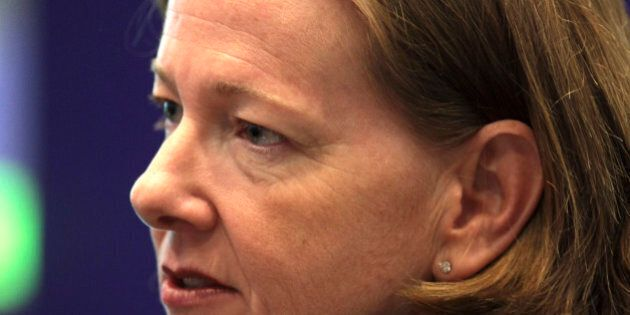Alison Redford, premier of Canada's Alberta province, speaks during an interview in New York, U.S., on...