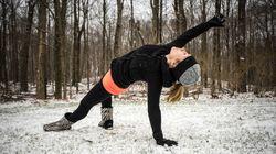 Bravez le froid et faites du yoga dans la
