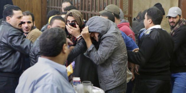 Men who were arrested in a televised raid last month by police looking for gays at a Cairo public bathhouse,...