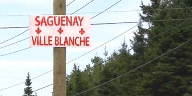 Saguenay: l'affichage raciste se poursuit avec des pancartes portant l'inscription « Saguenay ville blanche