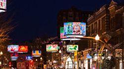 Des abat-jours illuminent l'avenue Cartier à Québec