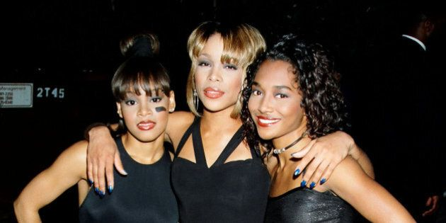 TLC during 1995 MTV Movie Awards in Los Angeles, California, United States. (Photo by Jeff Kravitz/FilmMagic,