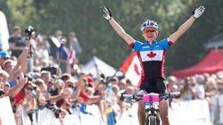 Catharine Pendrel gagne l'or aux mondiaux de vélo de