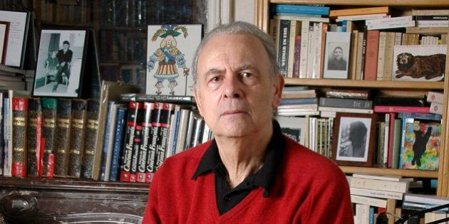 In this undated photo provided by publisher Gallimard, French novelist Patrick Modiano poses for a photograph....