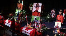 Les dépouilles des trois agents de la GRC exposées en chapelle ardente