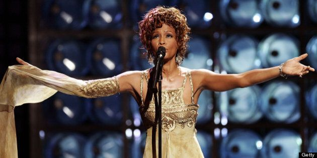 LAS VEGAS, NV ? SEPTEMBER 15: Singer Whitney Houston is seen performing on stage during the 2004 World...