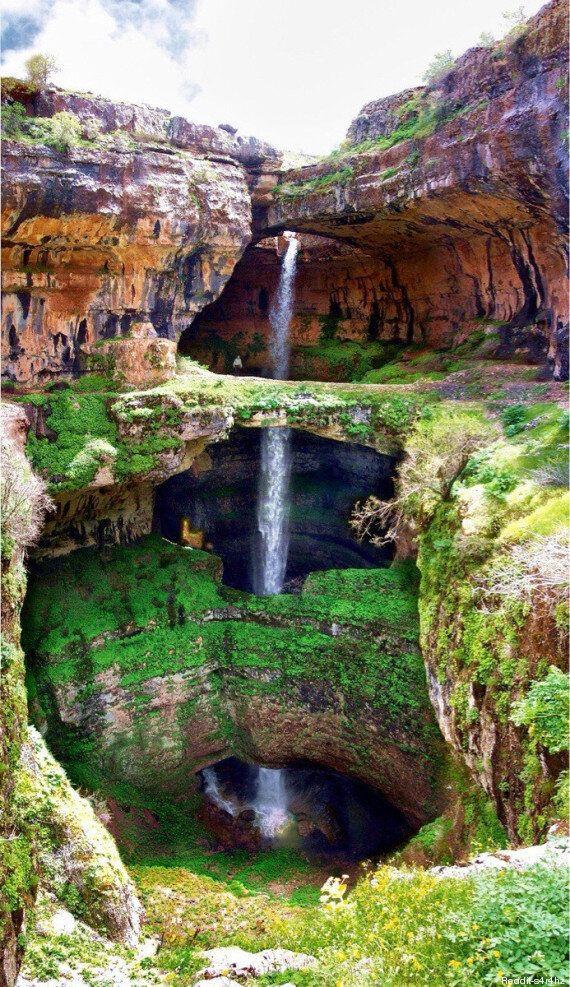 Cette cascade sur trois étages au Liban est impressionnante