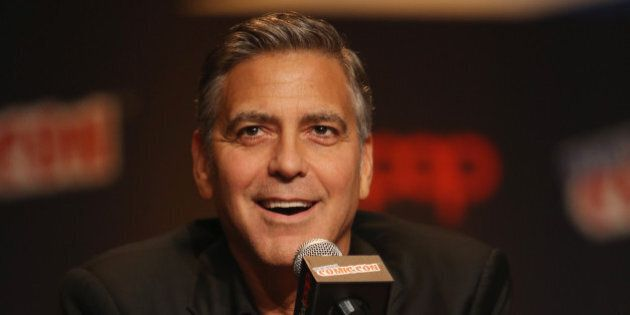 NEW YORK, NY - OCTOBER 09:  Actor George Clooney attends Walt Disney Studios' 2014 New York Comic Con presentation of 'Tomorrowland' at the Javits Convention Center on Thursday October 9, 2014 in New York City.  (Photo by Jason Carter Rinaldi/Getty Images for Disney)