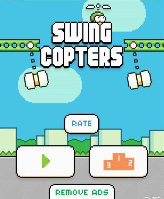 Swing Copters, le nouveau jeu du créateur de Flappy Bird, Dong