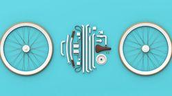 Un vélo démontable qui se range dans un sac en cuir