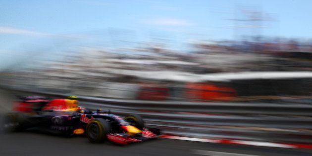 MONTE-CARLO, MONACO - MAY 24: Daniil Kvyat of Russia and Infiniti Red Bull Racing drives during the Monaco...