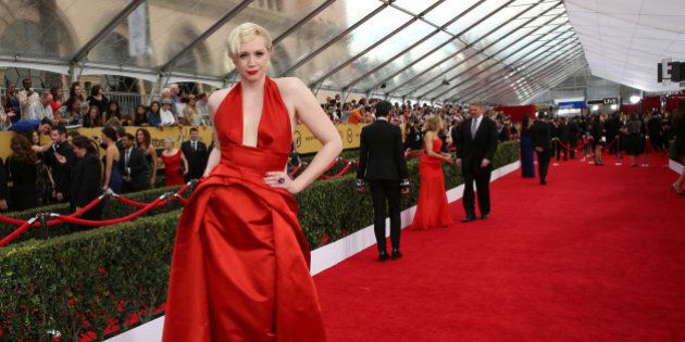 Gwendoline Christie arrives at the 21st annual Screen Actors Guild Awards at the Shrine Auditorium on...