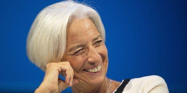 International Monetary Fund Managing Director Christine Lagarde speaks during a CNN Debate on the Global...