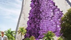 Un étonnant hôtel améthyste imaginé par un cabinet néerlandais