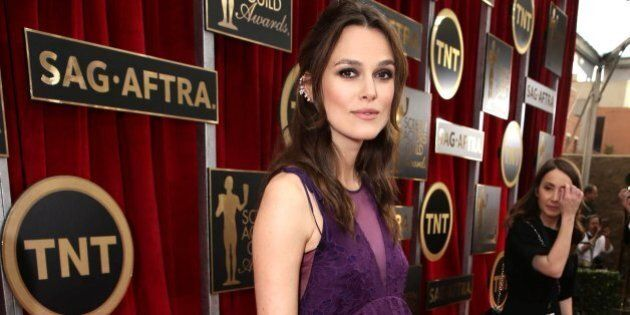 Keira Knightley seen at the Red Carpet Arrivals For The 21st Annual SAG Awards held at the Shrine Auditorium...