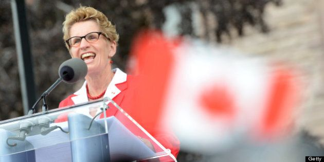 TORONTO, ON - JULY 1: Ontario Premier Kathleen Wynne and Honourable Michael Coteau , Minister of Citizenship...