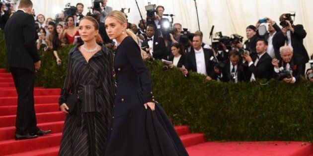 Mary-Kate and Ashley Olsen arrive at the Costume Institute Benefit at The Metropolitan Museum of Art...