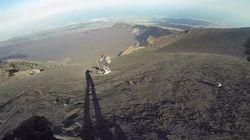 Ces skieurs descendent les pentes... du volcan Etna!