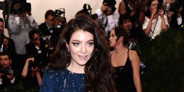 Lorde arrives at The Metropolitan Museum of Art's Costume Institute benefit gala celebrating