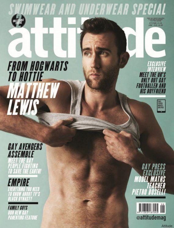 Matthew Lewis, Neville Londubat dans «Harry Potter» , en sous-vêtements pour le magazine Attitude